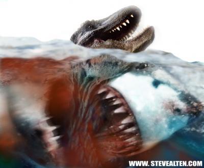 El tiburon que comia tiranosaurios