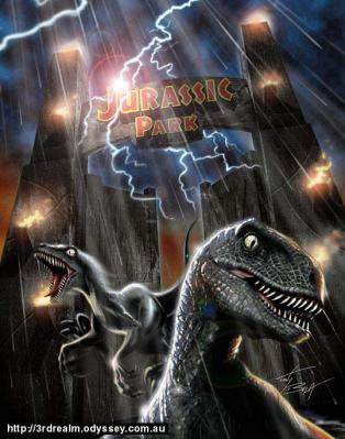 Galeria de criaturas prehistoricas inventadas:Velociraptor Spielgbery